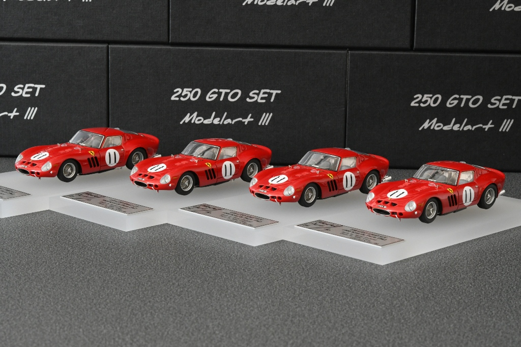 Modelart111 250 GTO Set : #3647 1000 Kms Paris 1962